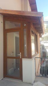 Realizzazione di una veranda in PVC effetto legno